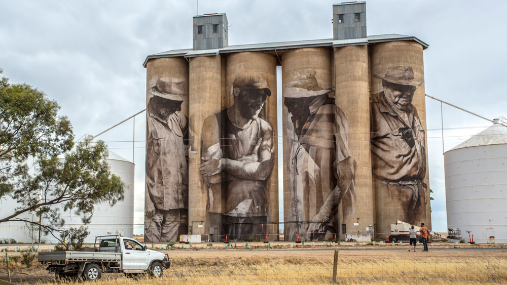 6 Murals. 6 Towns. 6 Australian Stories. - Guido Van Helten, Abandoned Silo Transformed